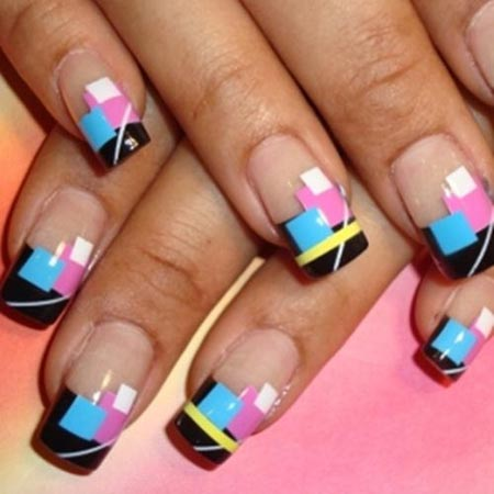 Spring French Tip Nail Design Fmag