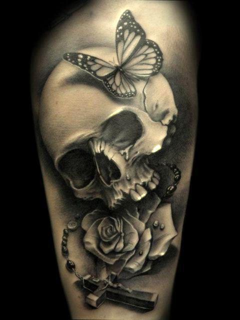 skull with butterfly tattoo fmag com rh fmag com skull butterfly tattoos skull butterfly tattoos
