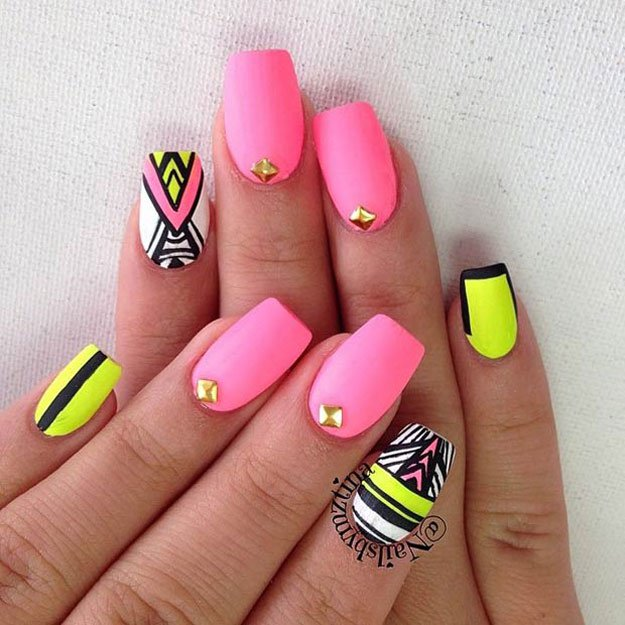Neon matte tribal nails spring nail art designs opt fmag neon matte tribal nails spring nail art designs opt prinsesfo Choice Image