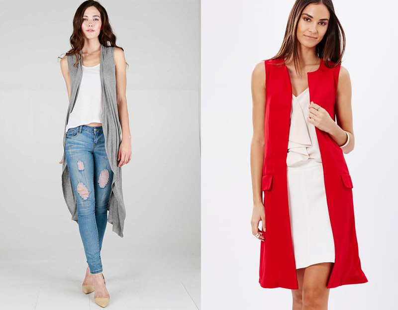 1 Second Makeover by Wearing Long Sleeveless Cardigan - FMag.com