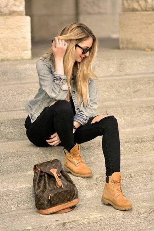 ladies timberland style boots