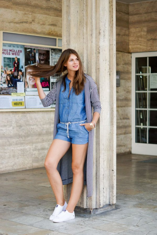 How to Wear Denim Romper 15 Amazing Outfit Ideas - FMag.com