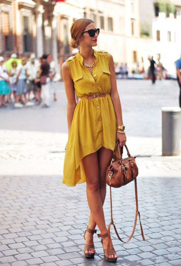 high low dress with boots