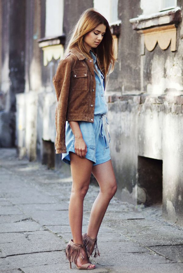 How To Wear Brown Suede Jacket For Women Fmag Com