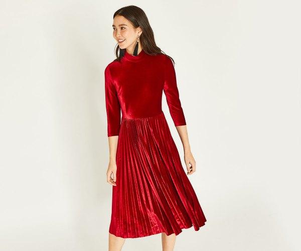 Ongekend 15 Minimal & Beautiful Red Velvet Dress Outfit Ideas - FMag.com LT-97