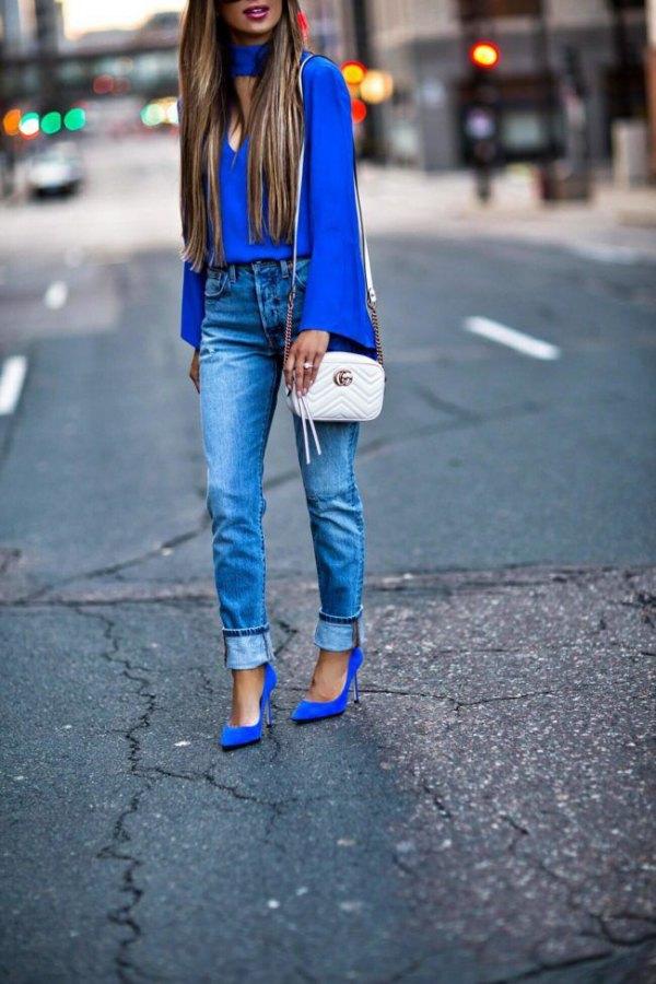 15 Best Blue Suede Heels Outfit Ideas