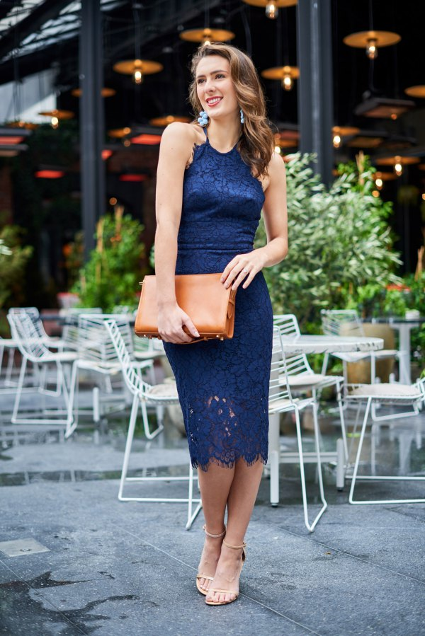 Smart.A Womens Fashion Sleeveless Lace Fit Flare Elegant Cocktail Party Dress