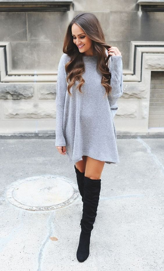 fine outfits with sweater dress