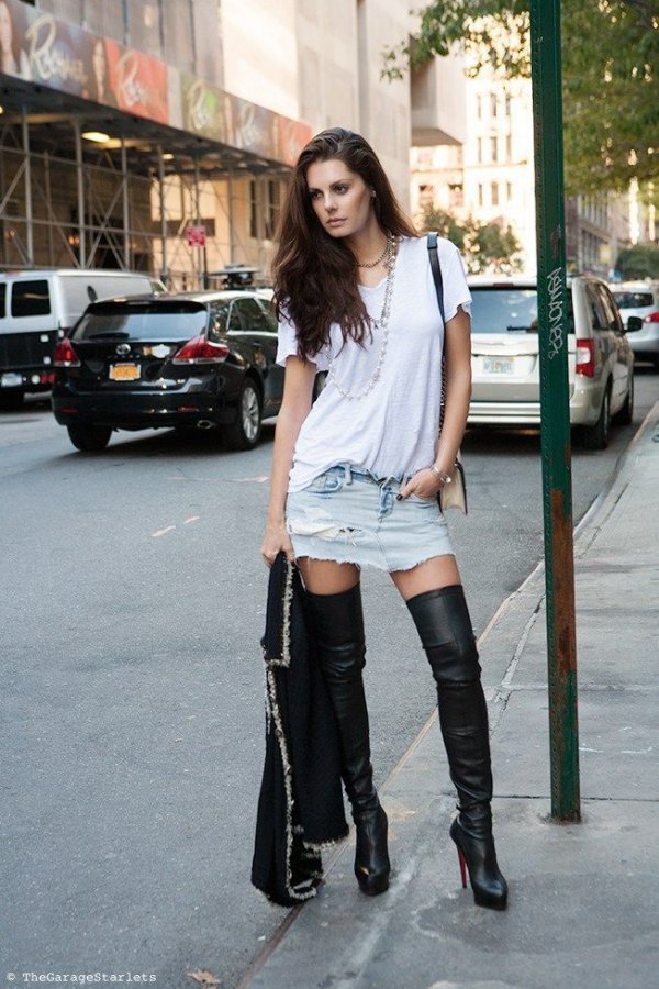 How To Style High Heel Boots Top 15 Lean Looking Outfit -1621